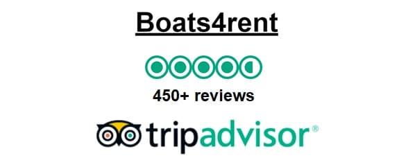 Sloep Huren Amsterdam Boats4rent scoort zeer goed tot uitmuntend op Tripadvisor