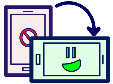 Telefoon in landscape voor online reservering afbeelding